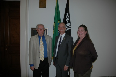 GAC 2012: Gary Ryan and Anne-Marie Bush with U.S Congressman Adam Smith.