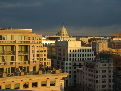 At Peter's condo.: PCC Mission to DC, Feb. 2012 � Capitol Bldg. taken from Peter Friedman�s condo.